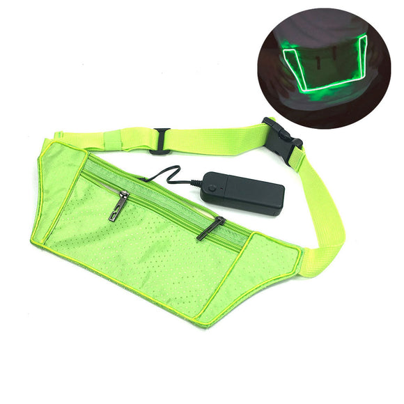 Led Light Up Waist Bag LED Reflective Safety Jogger Bag