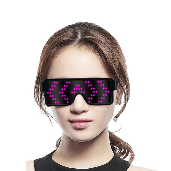 Rave Party Festival Led Light Up Glasses