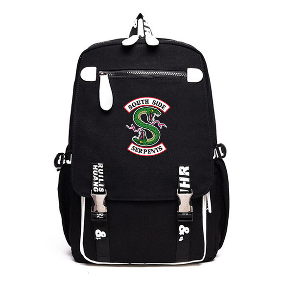 Riverdale Southside Serpents Backpack Schoolbag Travel Bag