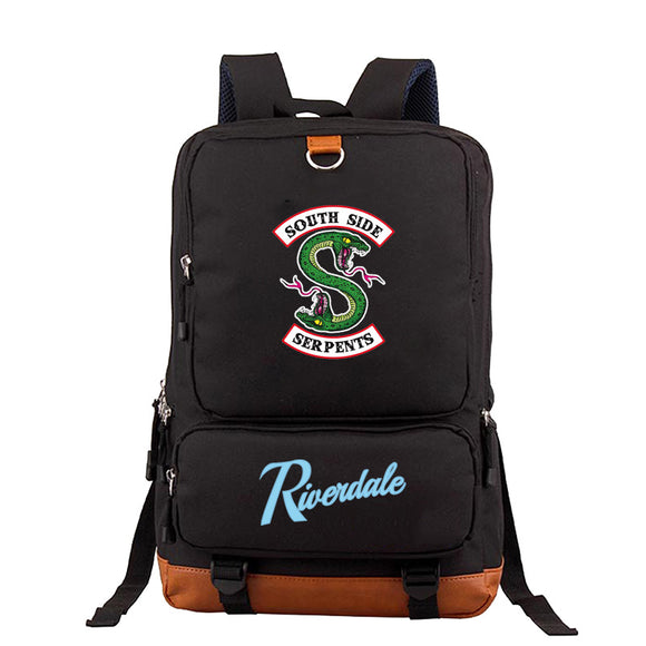 Riverdale Southside Serpents  Canvas and PU School Backpack For Youth