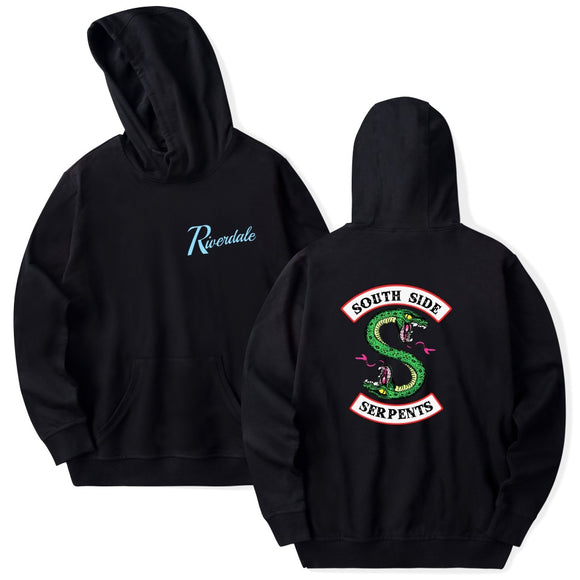 Riverdale Southside Serpents Hoodie -Cotton Fabric Long Sleeve Sweatshirt Unisex Pullover
