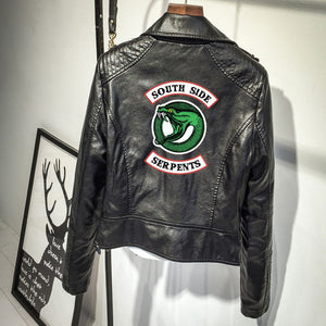 Riverdale Southside Serpents PU Leather Jackets Women