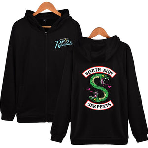 Riverdale Southside Serpents Zipper Hoodie Unisex Sweatshirt Jackets
