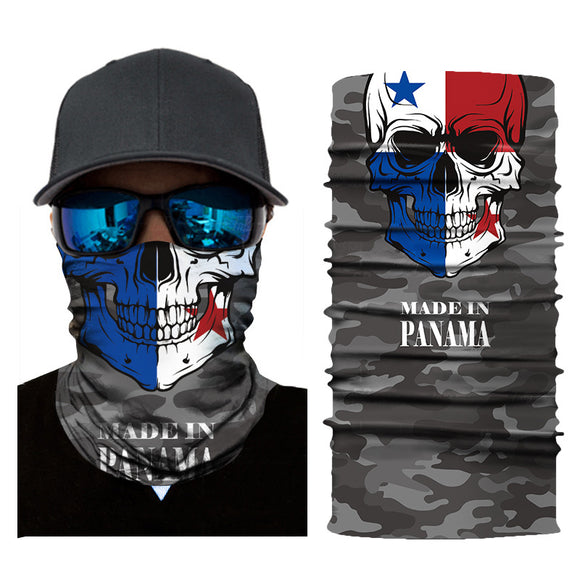 10Pcs Hot Fashion Flag Print Seamless Skull Face Bandana Head Scarf