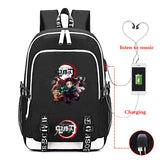 Kimetsu No Yaiba Backpack Bookbag with USB Charging Port