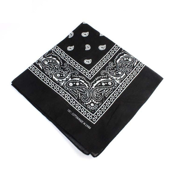 Unisex 2Pcs Color Face Bandanas Multi-Purpose Handkerchief Cowboy Bandanas Face Scarf Headband