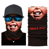 10Pcs Outdoor Funny 3D Print Toothy Smiley Motorcycle & Bicycle Face Bandana