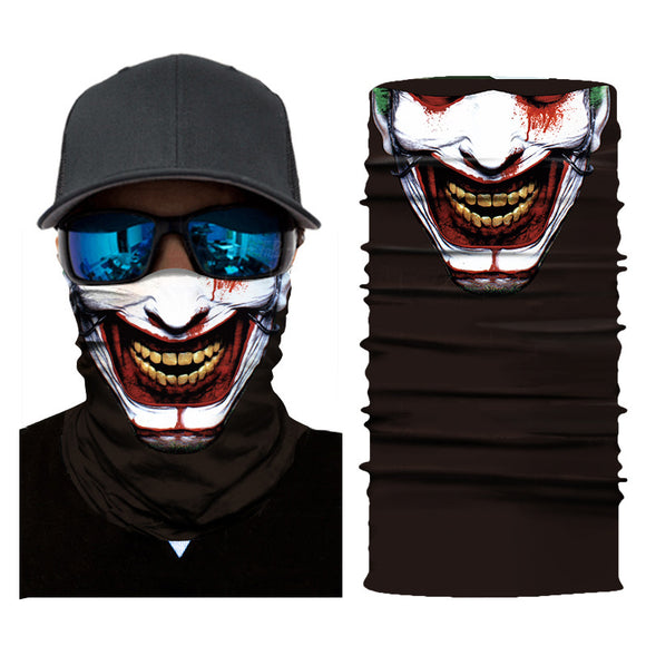 10Pcs Haha Joker 3D Print Seamless Motorcycle Face Bandana For Adult