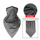 2Pcs Cycling Scarf Sun Dust Protection Face Cover Breathable Elastic Neck Gaiter Mask Bandana