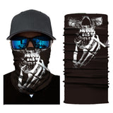 10Pcs Outdoor Seamless Skull Face Bandana And Head Scarf