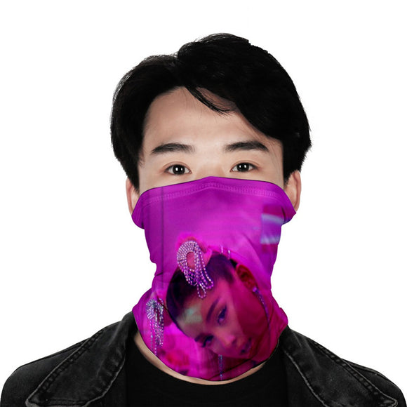 Ariana Grande Seamless Face Bandana Nose Cover Scarf For Boys And Girls