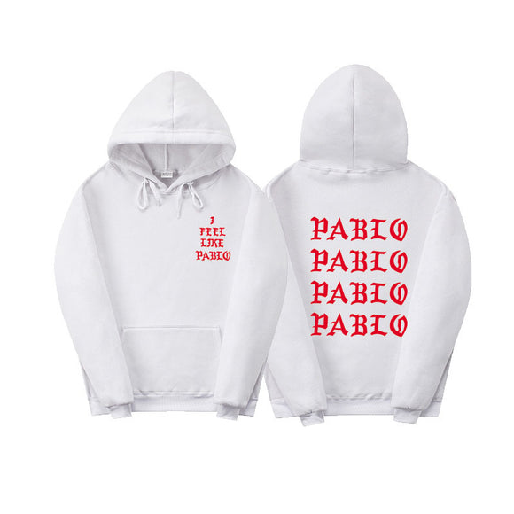 Fashion New Paul'S Life Kanye West Pablo Red Print Hoodie Men Women Hip Hop Tracksuit Sweatshirts Pull Paris I Feel Like Paul Pablo Hoodie