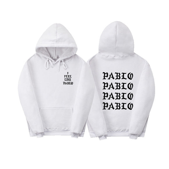 Fashion New Paul'S Life Kanye West Pablo Black Print Hoodie Men Women Hip Hop Tracksuit Sweatshirts Pull Paris I Feel Like Paul Pablo Hoodie