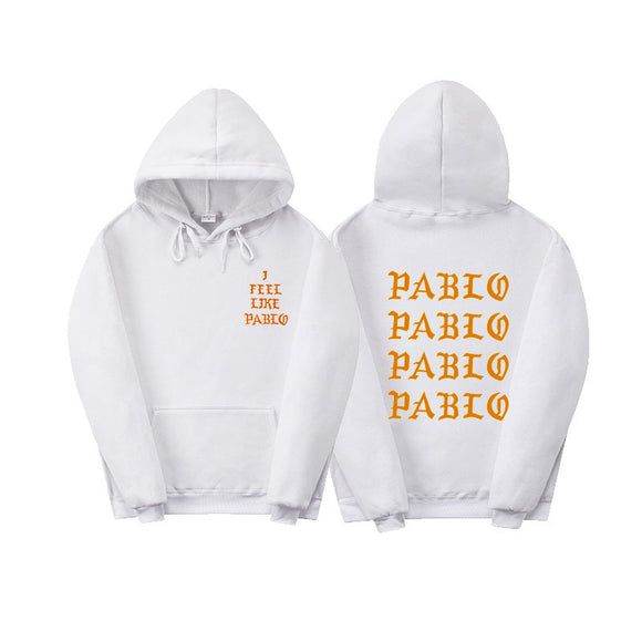 Fashion New Paul'S Life Kanye West Pablo Yellow Print Hoodie Men Women Hip Hop Tracksuit Sweatshirts Pull Paris I Feel Like Paul Pablo Hoodie