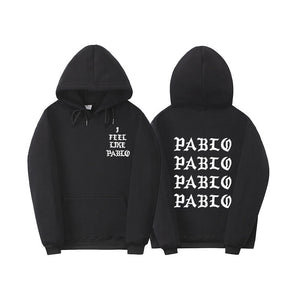 Fashion New Paul'S Life Kanye West Pablo White Print Hoodie Men Women Hip Hop Tracksuit Sweatshirts Pull Paris I Feel Like Paul Pablo Hoodie