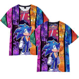 Hot Fashion Sonic The Hedgehog 3D Print T-shirt For Adults And Kids