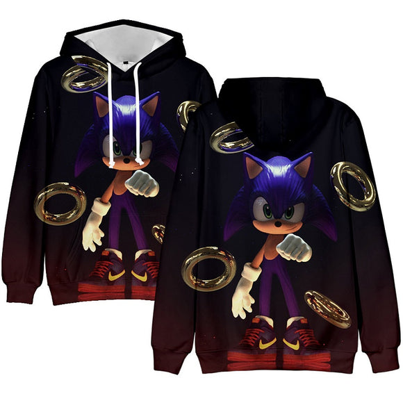 Sonic The Hedgehog 3D Print Pull Over Hoodie For Adults And Kids