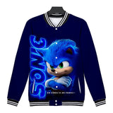 Sonic The Hedgehog Comic Print Long Sleeves Jacket