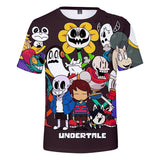 Undertale 3D Printed Shirts  for Kids