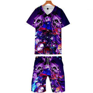 Undertale Boys Mens Casual Shirt and Shorts Set