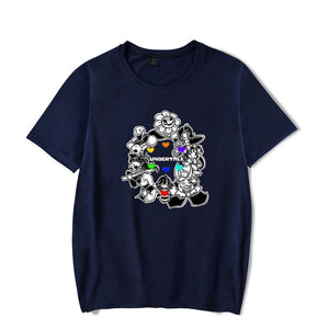 Undertale  Printed  Casual Polyester Shirts For Adults