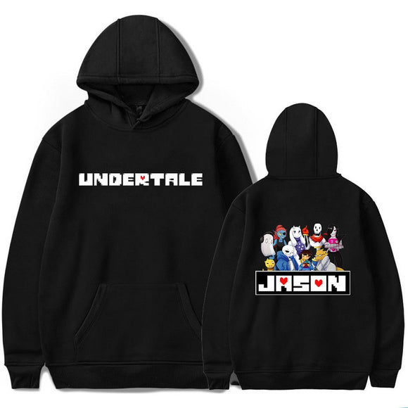Undertale Pull Over Hoodies Casual Polyester Jason Print Sweatshirt