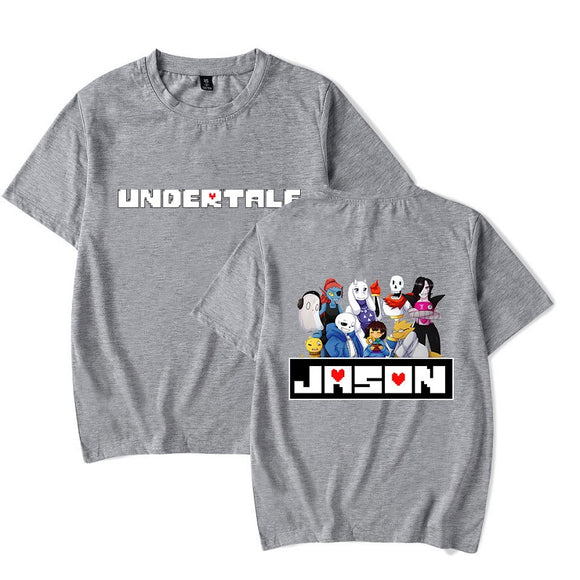 Undertale  Printed  Casual Jason Print Polyester Shirts