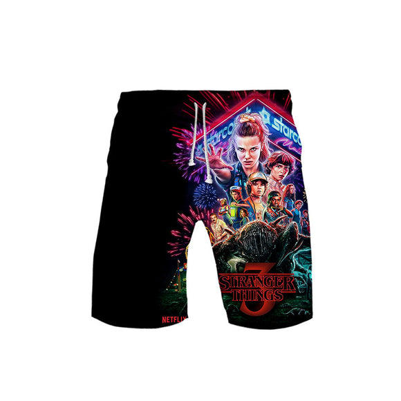 Stranger Things Shorts Casual Pants Beach Shorts