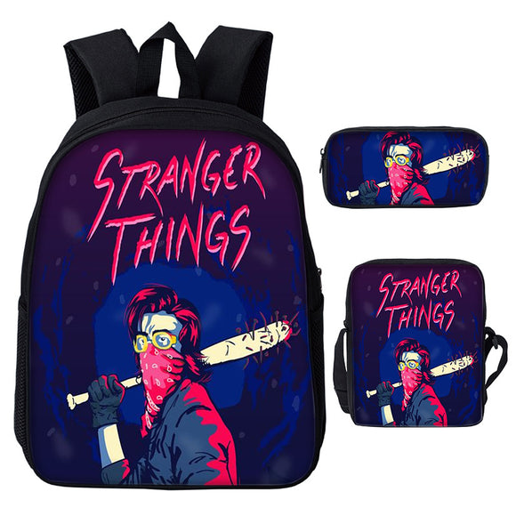 Stranger Things Backpack With Lunch Bags and Pencil Bag Set