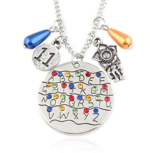 Stranger Things Demodog Demogorgon and 11 Charms Pendant Necklace