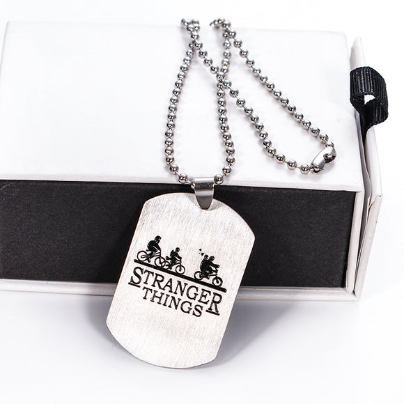 Stranger Things Necklace Letter Print  Pendant Necklace
