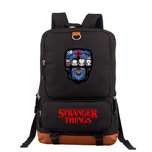 Stranger Things  Printed Fashion School Backpack Book Bags For Youth Adults