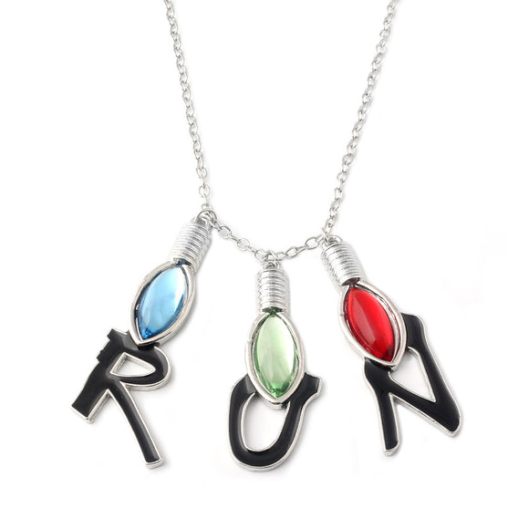 Stranger Things RUN Charms Pendant Necklace