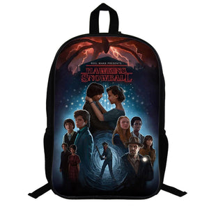 Stranger Things 3D Print Colorful Fashion School Backpack For Youth Kids