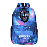 Stranger Things Cartoon Print School Backpack Book Bags