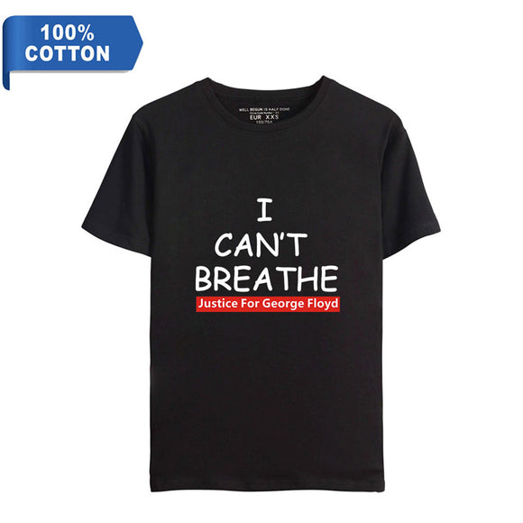 I Can't Breathe George Floyd Justice Men's Cotton T-Shirt