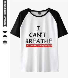 Justice for George Floyd Shirts I Can't Breathe Unisex  Short Sleeve Casual Shirts