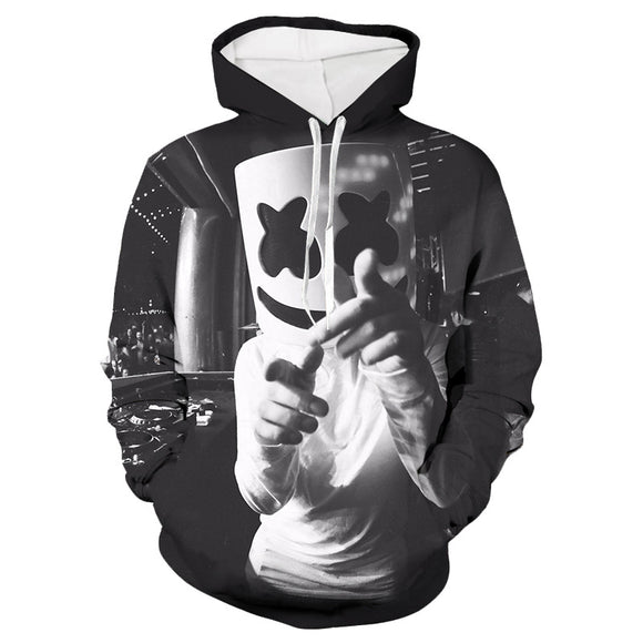 Unisex 3D Youth Marshmello Sweatshirts Casual Marshmello 3D Print Hoodies