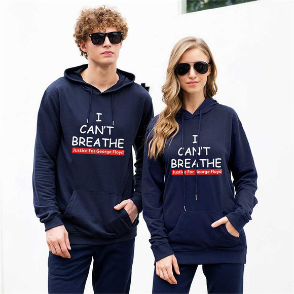 I Can't Breathe - George Floyd Justice Unisex Hoodie Sweatshirt with Pocket