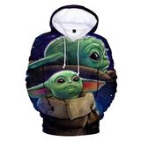 Star Wars The Mandalorian Season 1 Baby Yoda 3d Print Pull Over Hoodie
