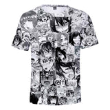 Anime Ahegao Face Short Sleeves T Shirts Hentai Funny Shirt