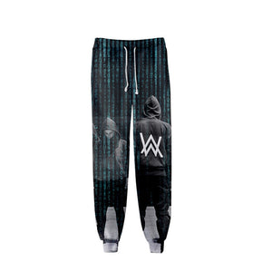 Alan Walker 3D Print Low Waisted Loose Fit Jogger Pants