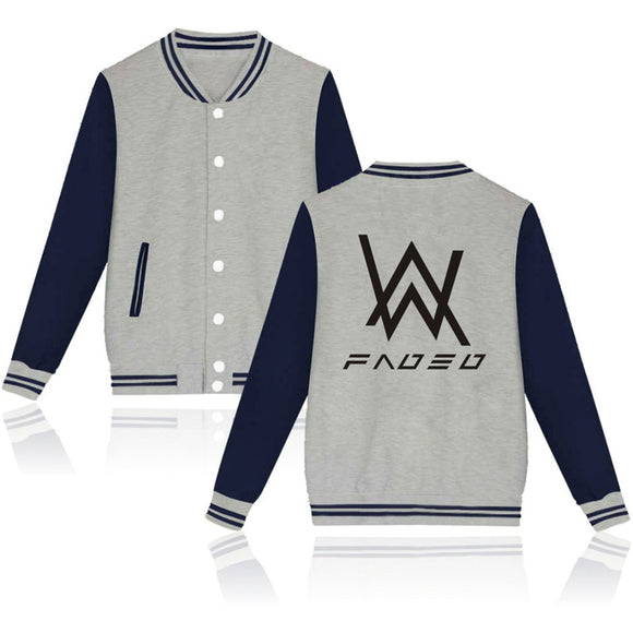 Alan Walker Faded Baseball Jersey With Full Button