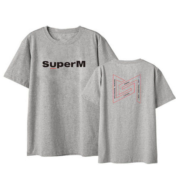 SuperM Fashion Casual T-shirt Same Style For Fans