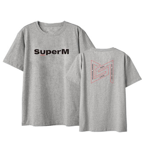 Kpop Super M Fashion Casual T-shirt Same Style For Fans