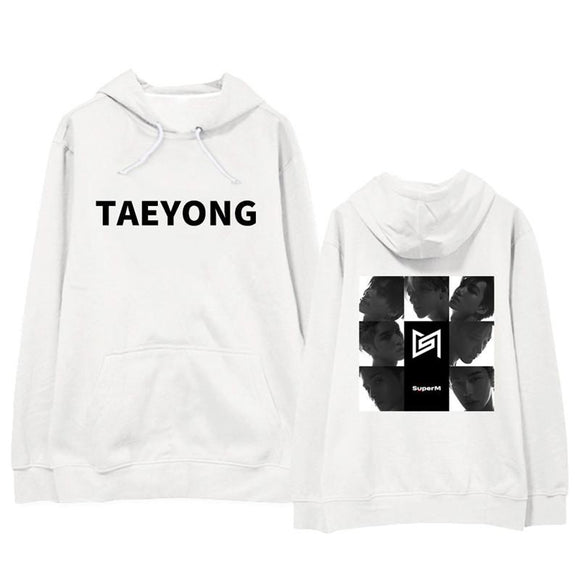 Kpop SuperM TAEYONY Hoodie With Motif