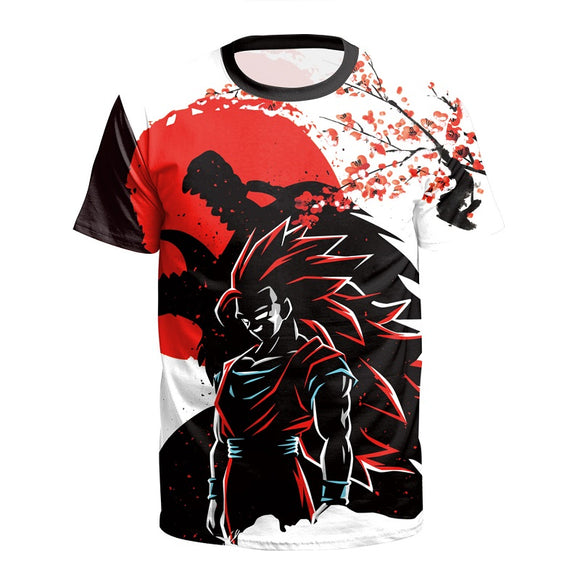 Anime Dragon Ball Z  Super Saiyan Goku Short Sleeves Shirt