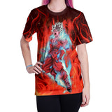 Anime Dragon Ball Z  Super Saiyan Goku Flame Short Sleeves Shirt