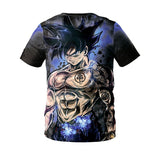Anime Dragon Ball Z  Super Saiyan Goku Muscle Short Sleeves Shirt