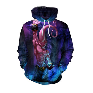 Anime Dragon Ball Z  Majin Buu 3D Print Pull Over Hoodie Sweatshirt